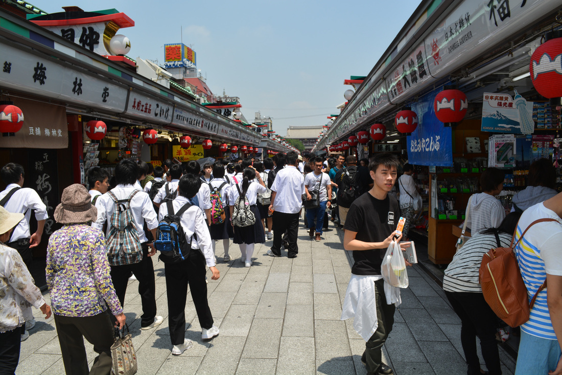 A Temple Market in Tokyo, Japan